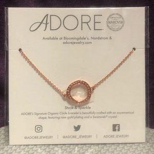 Adore Rose Gold Swarovski Crystal Circle Bracelet
